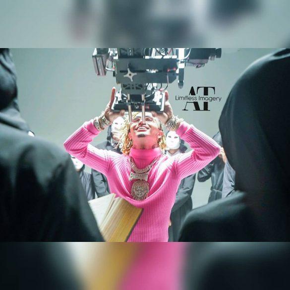 Lil Pump grabando el videoclip de